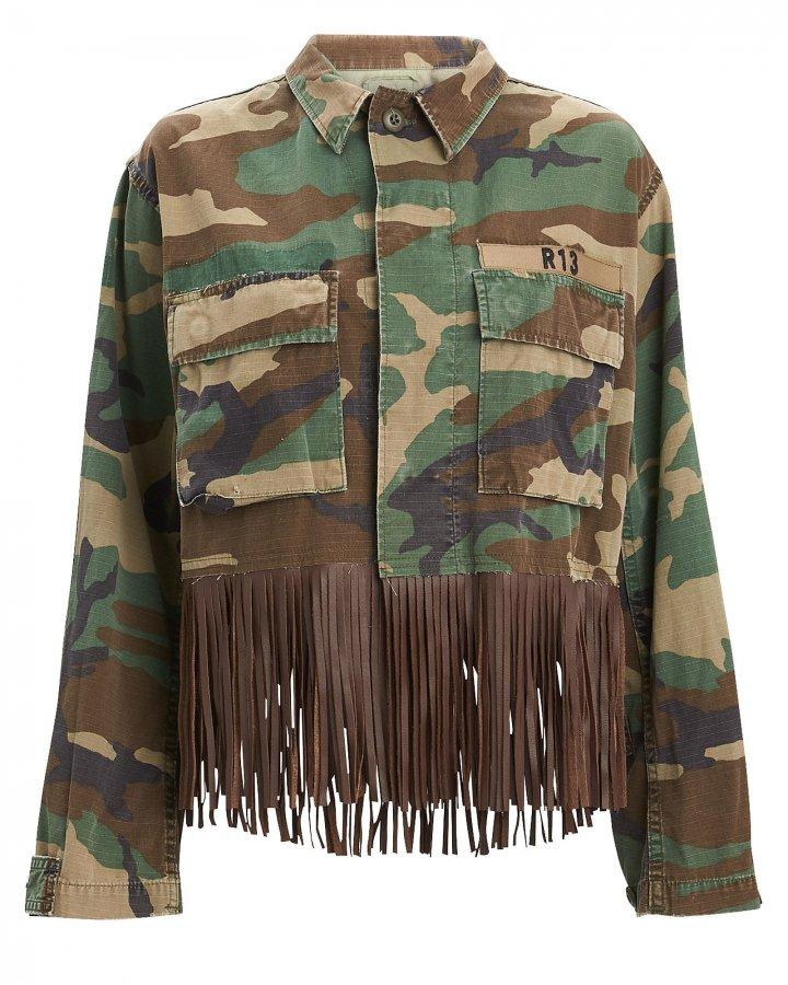 Abu Camo Fringe Jacket