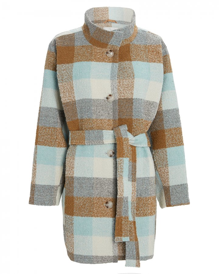 Anaya Plaid Coat