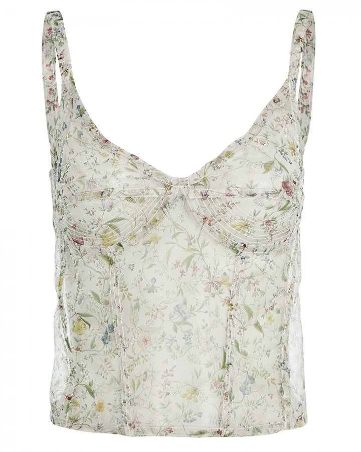 Corset Floral Chiffon Camisole
