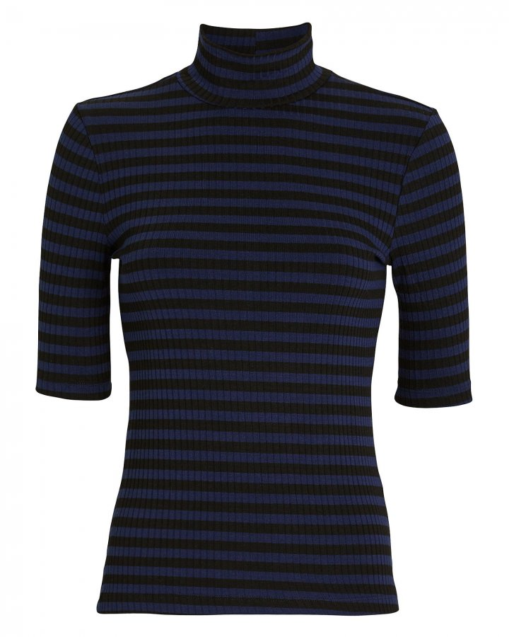 70\'s Striped Turtleneck Top