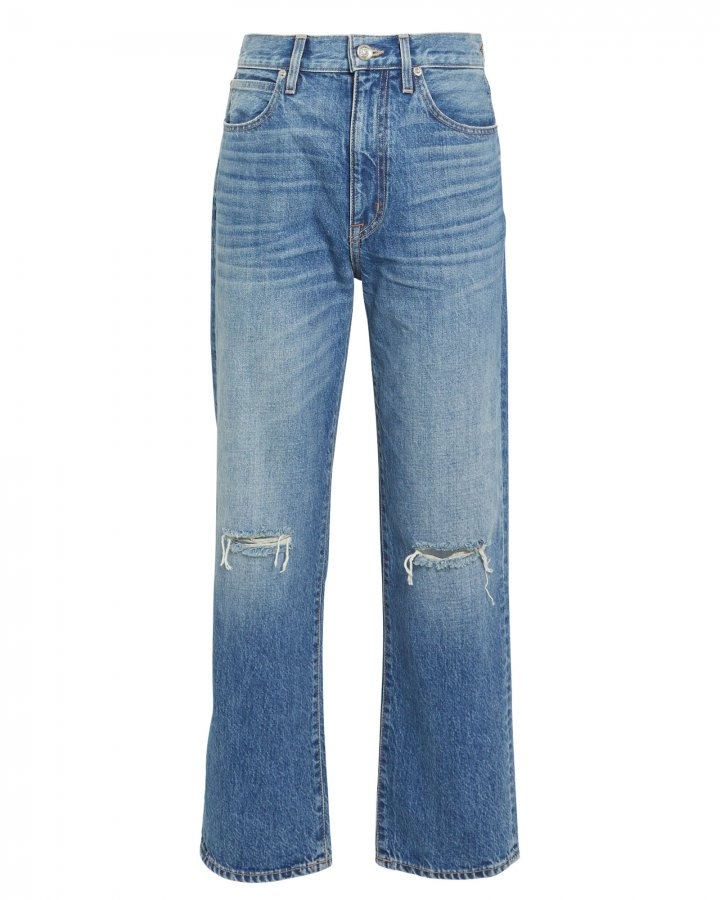 London High-Rise Straight Jeans