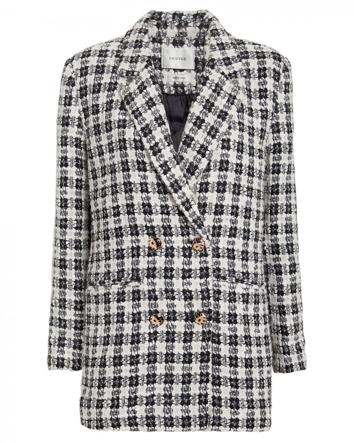 Ophelia Double-Breasted Tweed Blazer