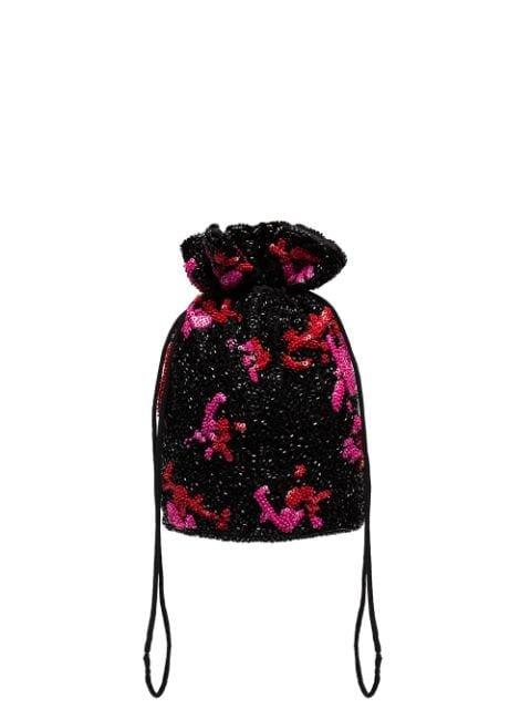 GANNI Sequinned Clutch Bag - Farfetch