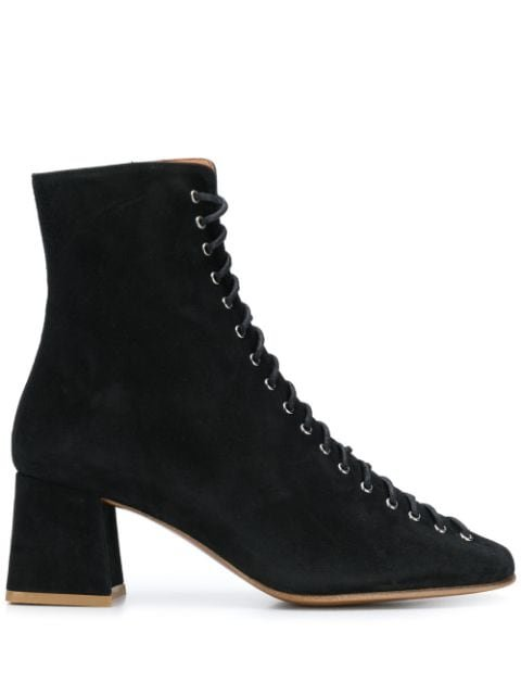 BY FAR Lace Up Ankle Boots - Farfetch