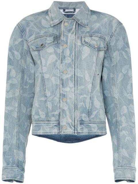 GmbH Leaf Print Denim Jacket - Farfetch