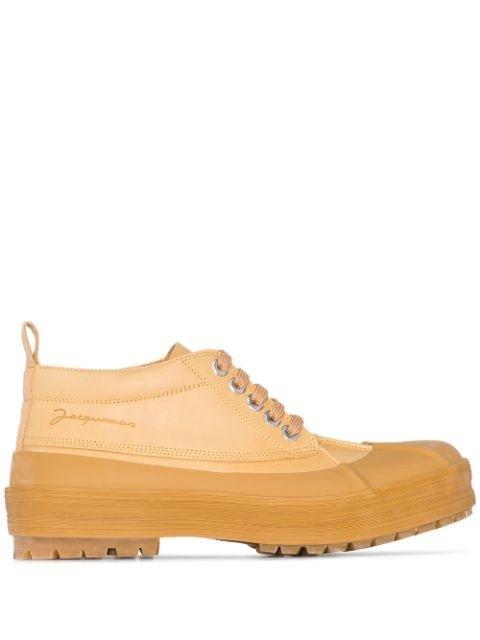 Jacquemus Les Meuniers Leather Ankle Boots - Farfetch