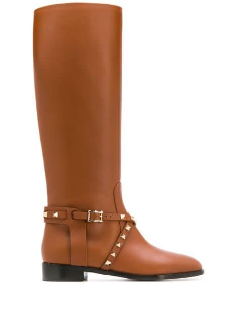 Valentino Valentino Garavani Rockstud 25mm Ankle Boots - Farfetch