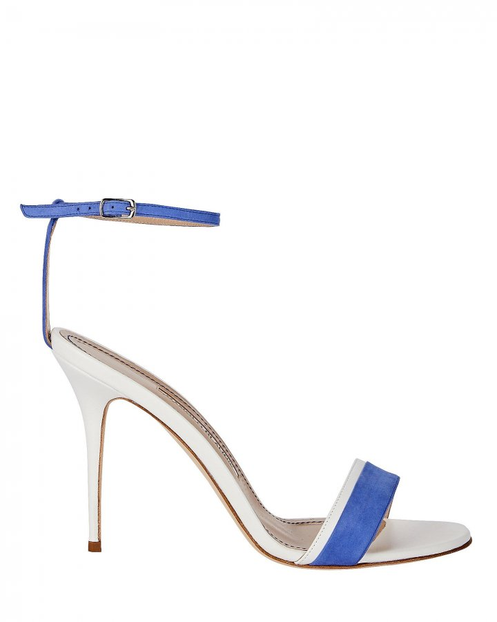 Spezia Colorblocked Suede Sandals