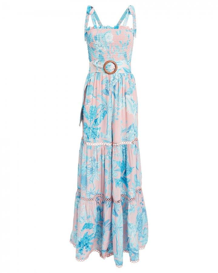 Millim Belted Floral Jumpsuit