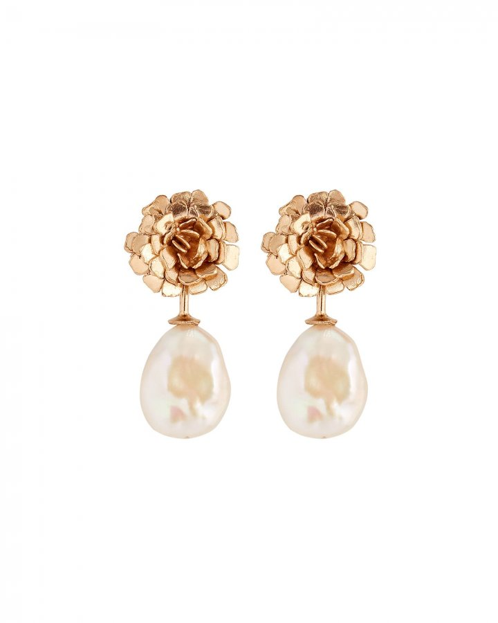 Carnation Pearl Earrings