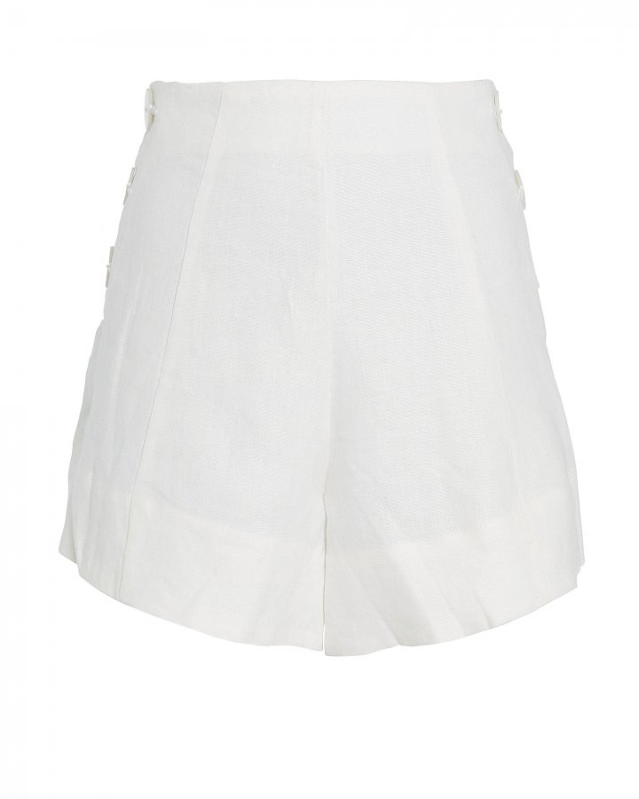 Savannah High-Rise Linen Shorts
