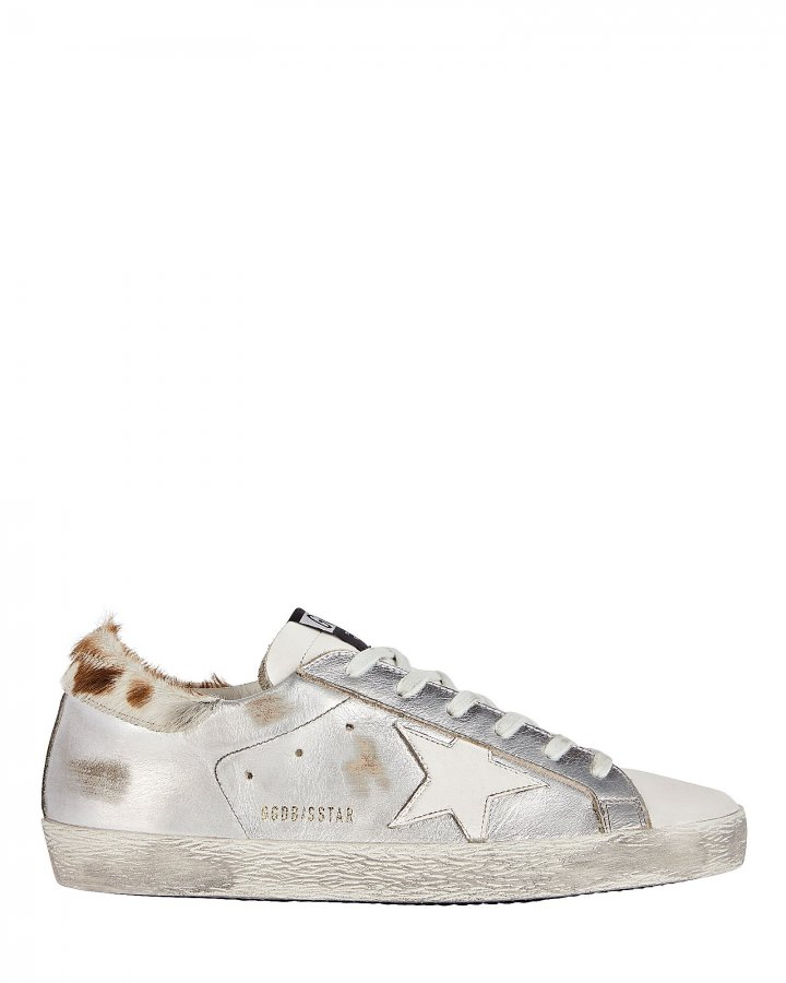 Superstar Calf Hair-Trimmed Sneakers