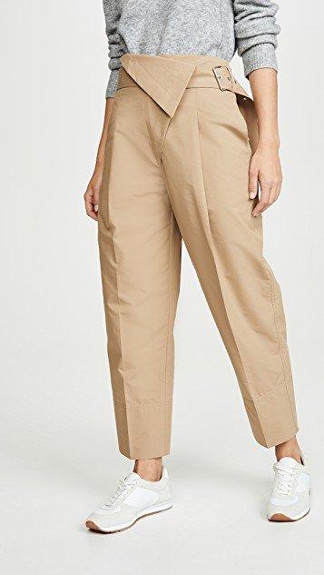 Belted Overlap Trouser