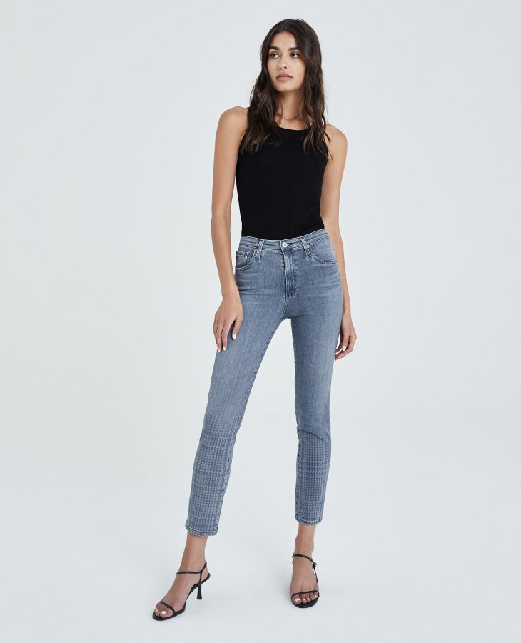 The Isabelle in Gray Light Plaid Ombre at AG Jeans Official Store