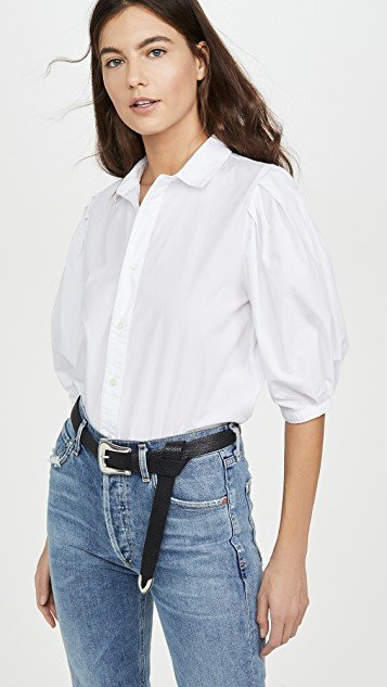 Ines Pleat Half Sleeve Shirt