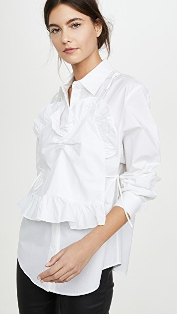 Front Frill Point Shirts