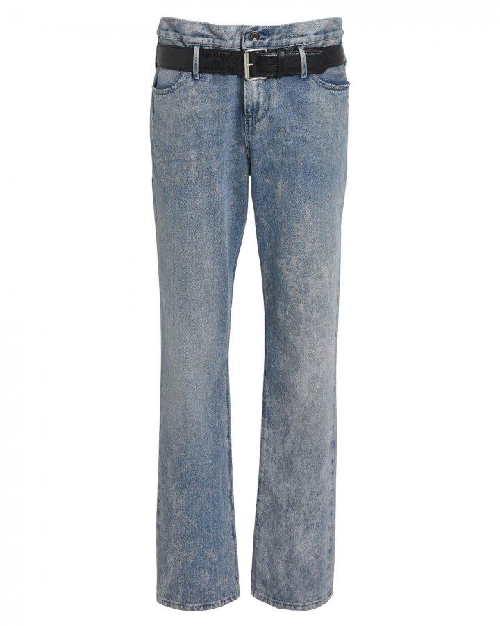 Dexter Half Belt Metallic Jeans