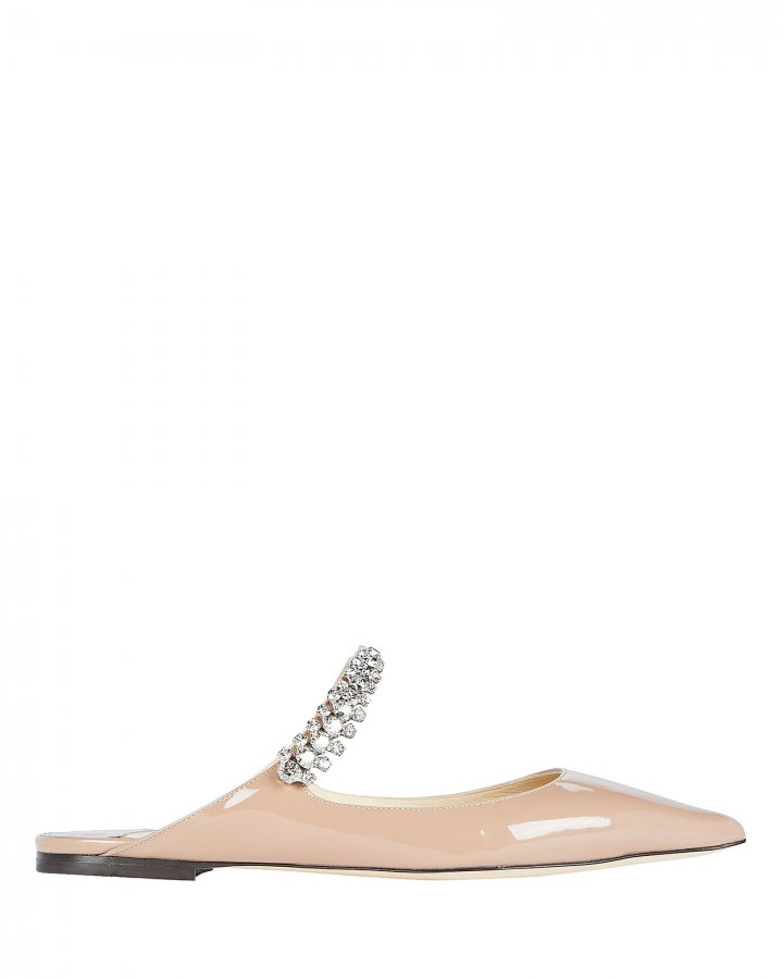 Bing Patent Crystal Strap Flats