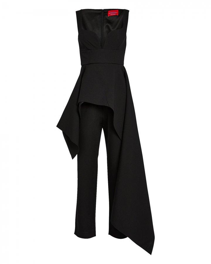 Rena Asymmetrical Crepe Jumpsuit