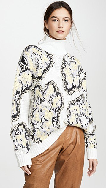 Fil Coupe Abstract Daisy Sweater