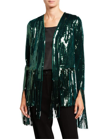 Winter Jungle Sequined Jacket
