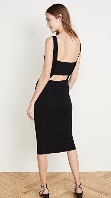 Lausanne Open Back Little Black Dress