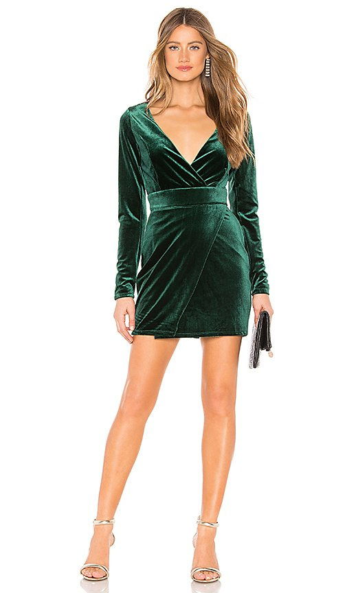 Crista Wrap Dress In Green