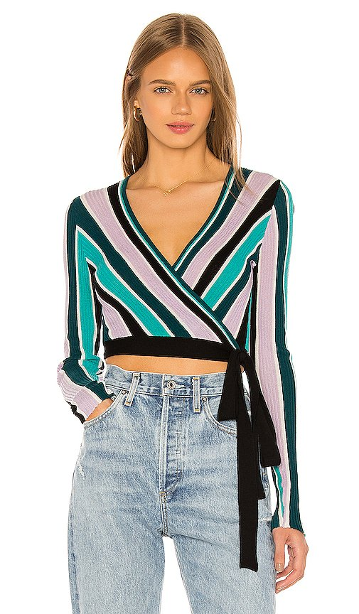 Vivid Stripes Emma Sweater Wrap