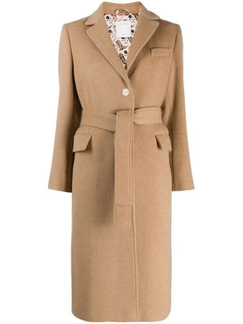 Sandro Paris Camen Camel Coat - Farfetch