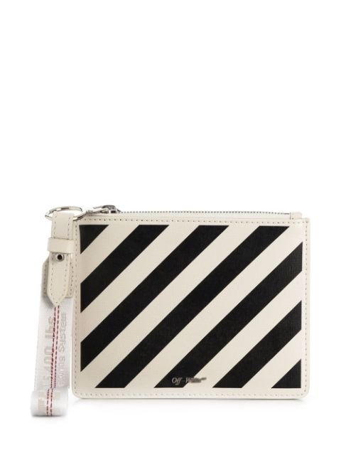 Off-White Diagonal Stripes Print Clutch - Farfetch