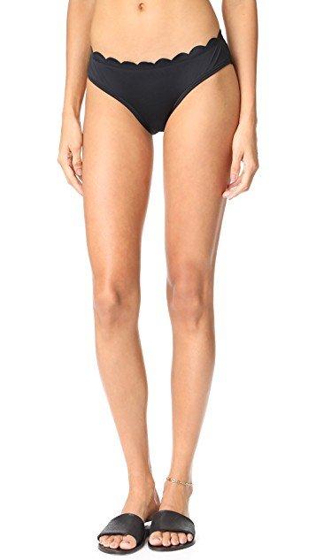 Scalloped Hipster Bikini Bottoms
