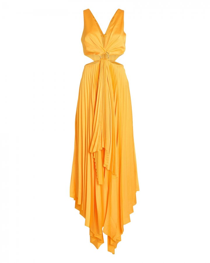 Eden Pleated Cut-Out Dress