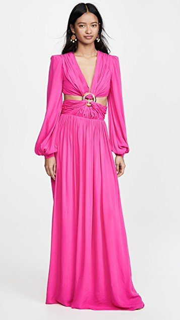 Neon Cutout Gown