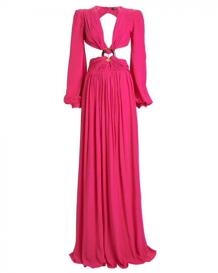 Neon Cut-Out Maxi Dress