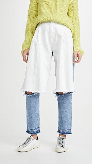 Light Blue and White Demi Denims Jeans