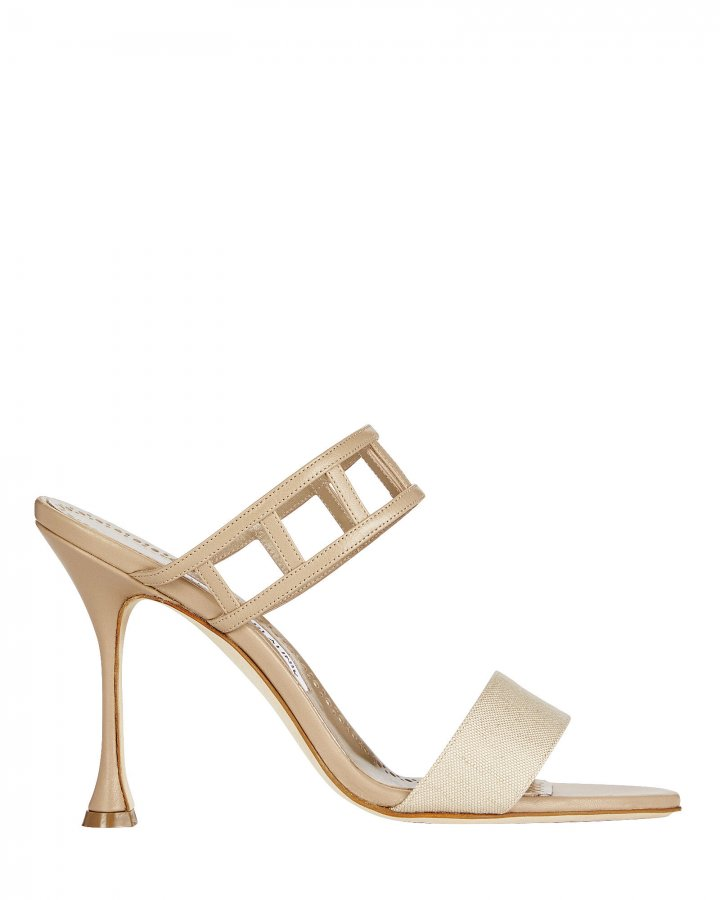 Abey Cut-Out Leather Sandals