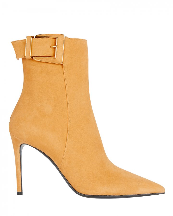 Payton Buckle Suede Booties