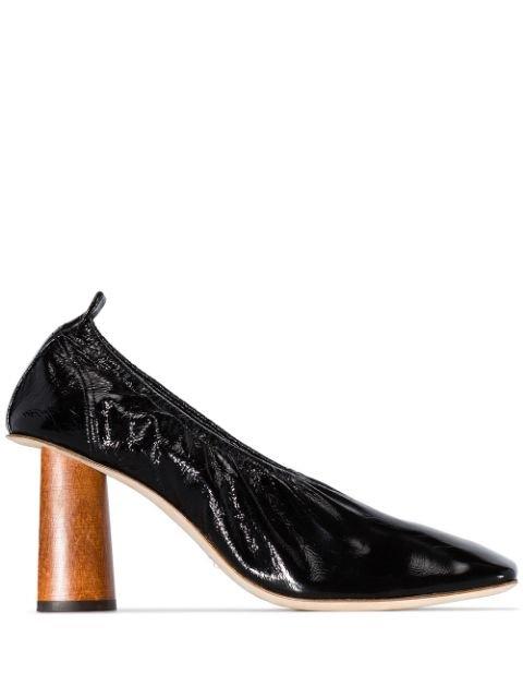 Rejina Pyo Black Edie 80 Wooden Heel Pumps - Farfetch