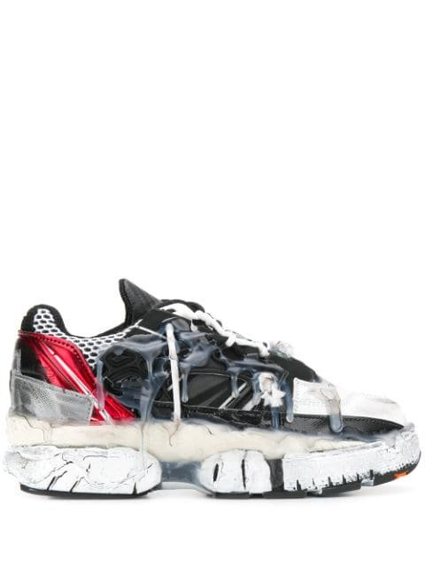 Maison Margiela Distressed Sneakers - Farfetch