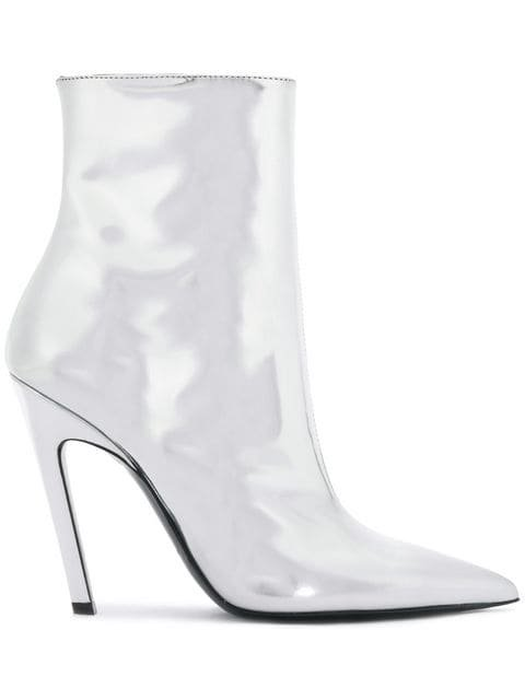 Balenciaga Silver Talon Mirror 80 Ankle Boots - Farfetch