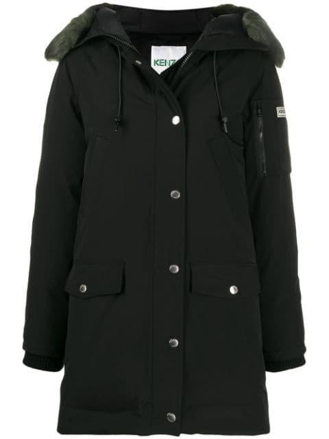 Kenzo Long Sleeves Hooded Parka - Farfetch