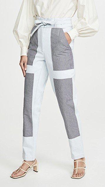 Patchwork Chore Jeans