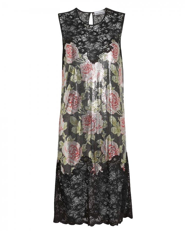Rose Print Chainmail Dress