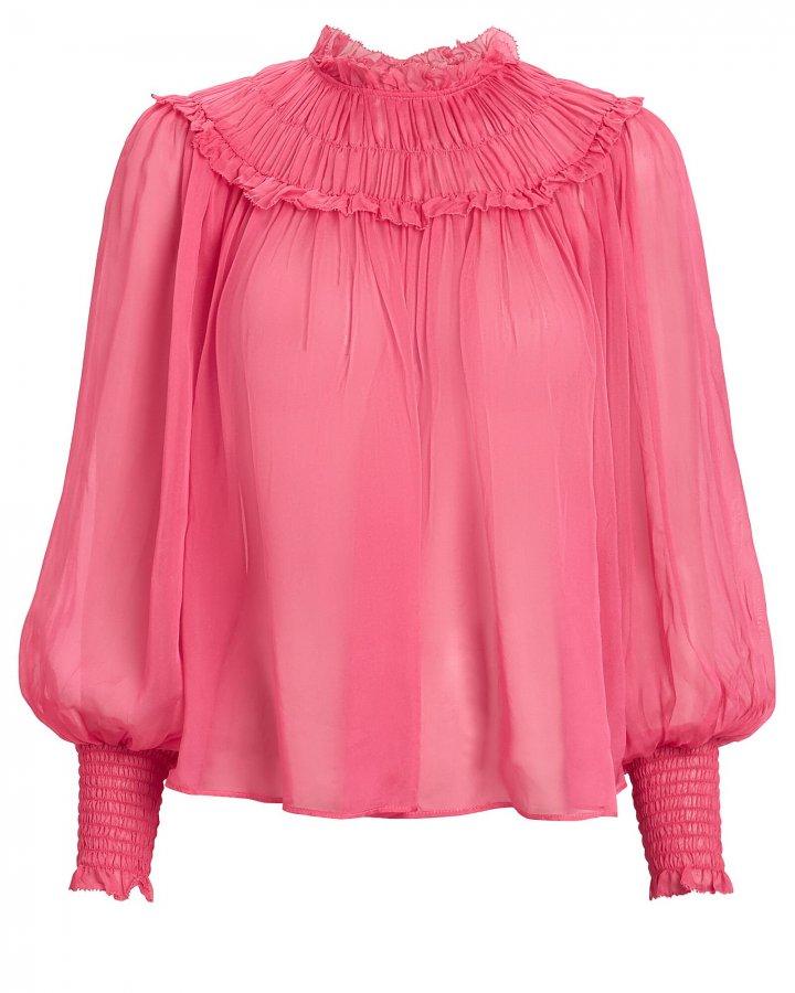 Arabella Silk Pleated Blouse