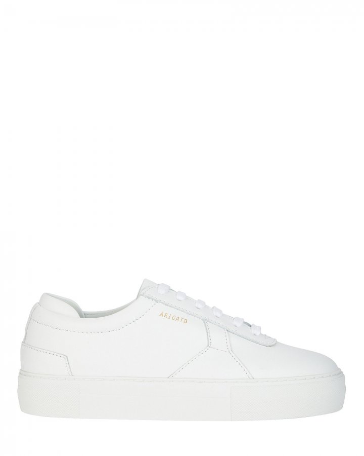 Platform Low-Top Leather Sneakers