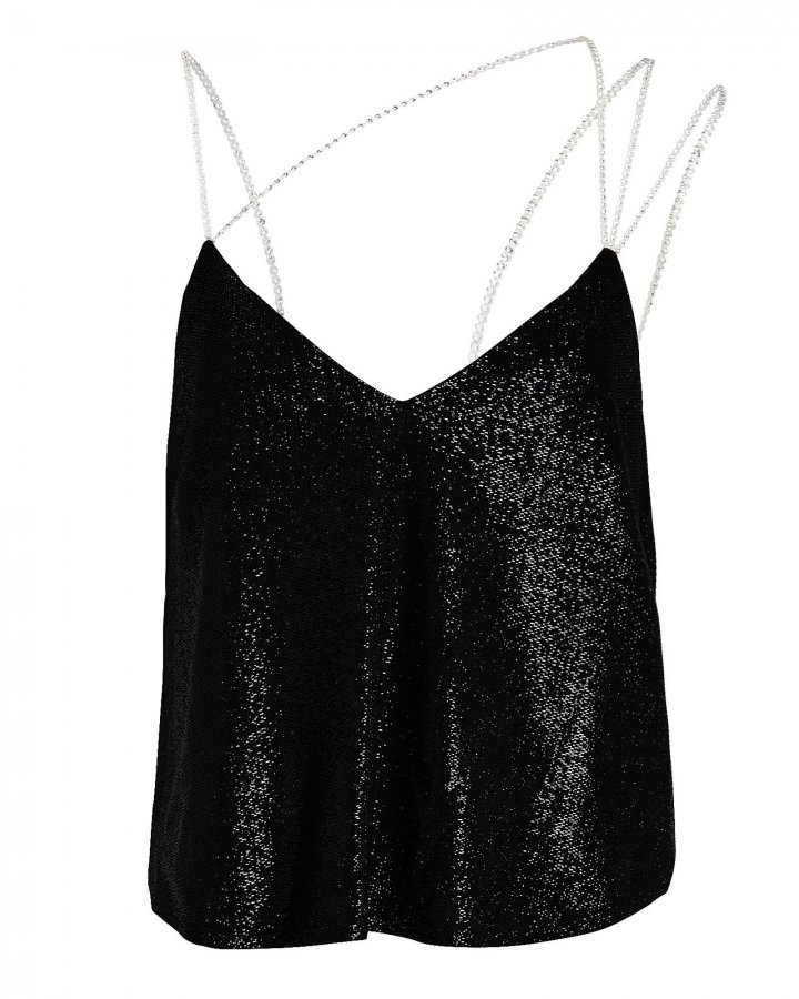 Crystal Strap Shimmer Camisole
