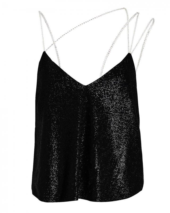 Crystal Strap Shimmer Camisole