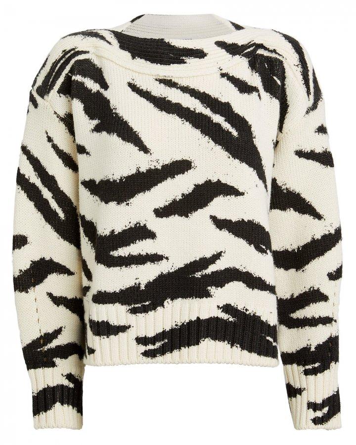Zebra Merino Wool Sweater