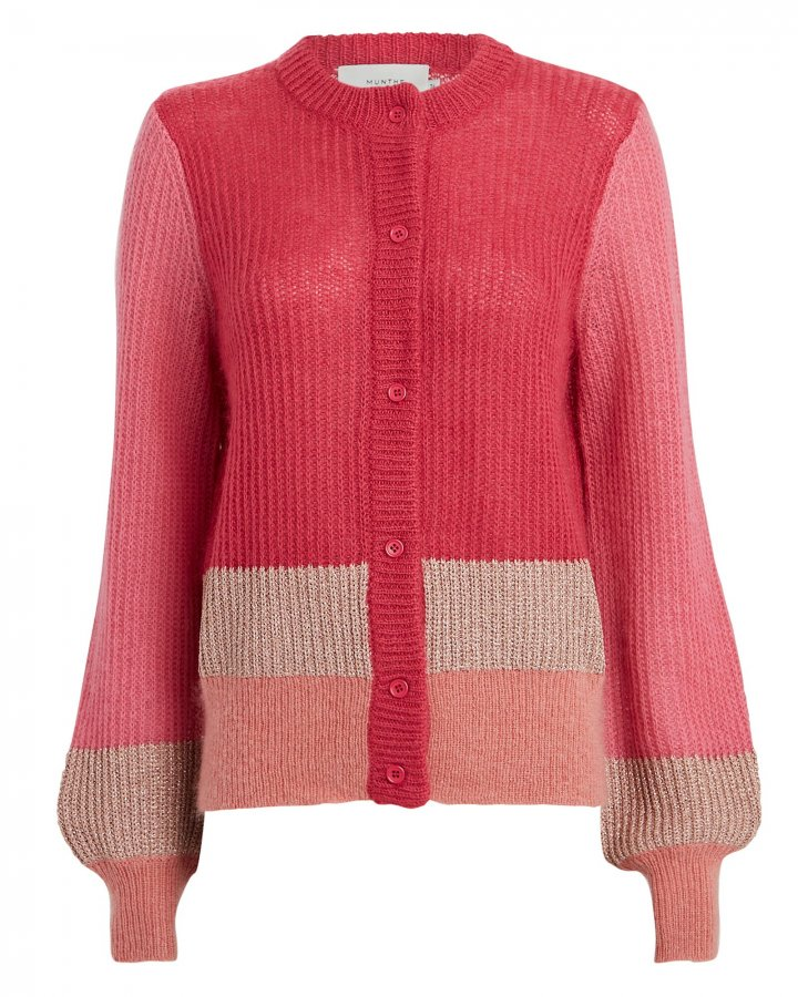 Hip Colorblocked Cardigan