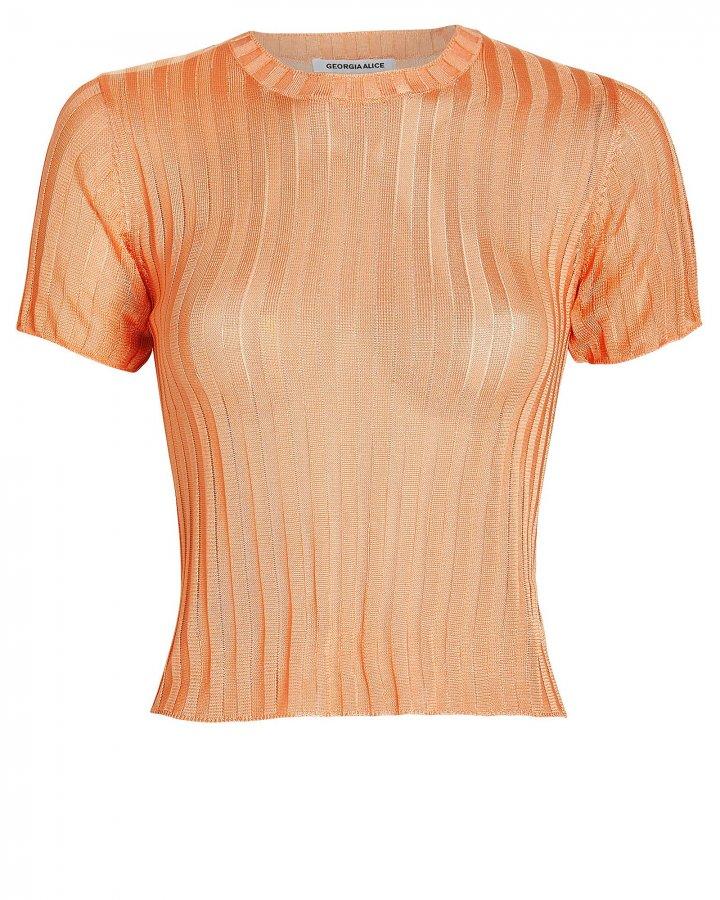 Lola Ribbed Crewneck T-Shirt